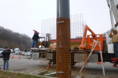 Billboard pole installation in Indiana, PA
