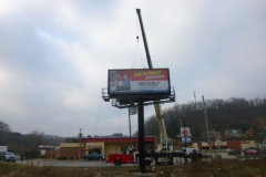 Billboard installation in Jeannette, PA