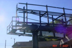 Billboard Structure Billboard installation in Pittsburgh