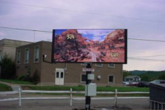 Billboard installation in Jeannette, PA for Ford City