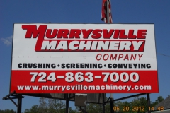 Billboard installation near Jeannette, PA for Murrysville Machinery