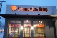 Romanow Law Reverse Lit Chanel Letters in Uniontown