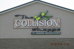 The Collision Shop Channel Letters