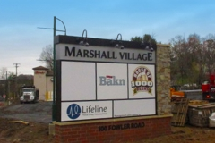 Marshall Village Monument Sign in Pittsburgh, PA