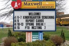 Maxwell Elementary Custom Sign