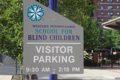 School Blind Custom Sign