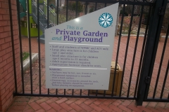 School Blind Garden Custom Sign