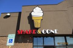 Shake & Cone Custom Sign