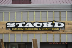 Stacked Custom Sign in Uniontown