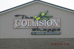 The Collision Shop Channel Letters