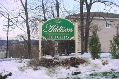Addison Heights monument signs in Uniontown