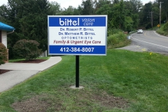 Bittel Vision monument sign