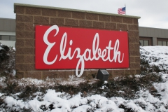 Elizabeth monument sign