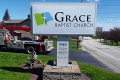 Grace Baptist monument signs in Pittsburgh