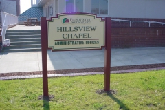 Hillsview monument sign