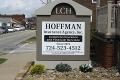 Hoffman monument signs in Uniontown