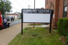 Monument signs in Jeannette, PA for Latrobe Center