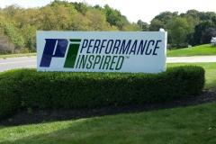 PI Inspired monument sign