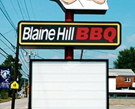 Pylon signs in Monroeville for Blaine Hill