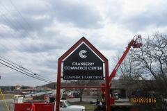 Cranberry Commerce Park pylon signs in Jeannette, PA