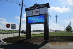 Pylon signs and Outdoor LED signs in Pittsburgh for Forbes Plaza Pylon