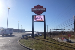 Pylon signs in Pittsburgh for Harley Davidson