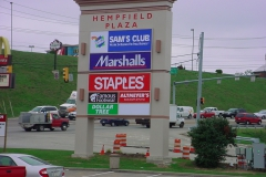 Pylon signs in Indiana, PA for Hempfield Plaza