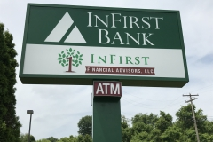In First Bank Pole Sign
