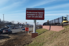Lincoln Corner Plaza pylon signs in Indiana, PA for Outdoor Electronic Signs