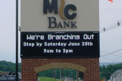 Pylon signs in Indiana, PA for McBank