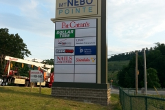 Pylon signs in Monroeville for Mt Nebo Pointe