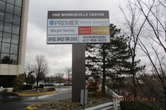 Pylon signs in Monroeville for One Monroeville