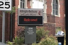 Albright Bethune Sign Install