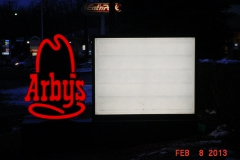 Sign installation in Jeannette, PA for Arbys
