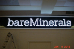 Bare Minerals Mall Sign Install