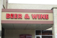 Beer Wine Channel Letters Sign Installation