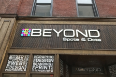 Beyond Channel Letters Sign installation in Pittsburgh
