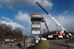 Sign installation in Jeannette, PA for Bowser
