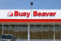 Sign installation in Uniontown for BusyBeaver