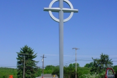 Cross Installation for Jeannette Churches