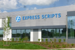Express Scripts sign installation in Pittsburgh