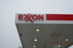 Exxon Channel Letter sign installation in Indiana, PA