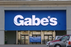 Gabes sign installation in Monroeville