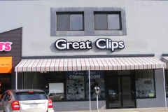 Great Clips Sign Install in Pittsburgh