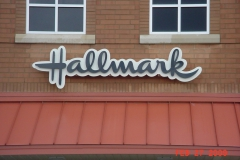 Hallmark Sign Installation