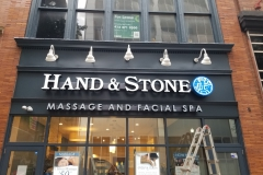 Hand & Stone Sign Installation in Pittsburgh