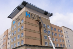 Hyatt House Pittsburgh Sign Installation