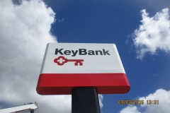 Key Bank Pole Sign