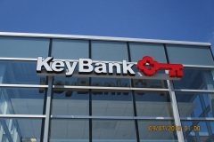 Sign installation in Indiana, PA for Key Bank