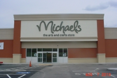 Sign installation in Monroeville for Michaels